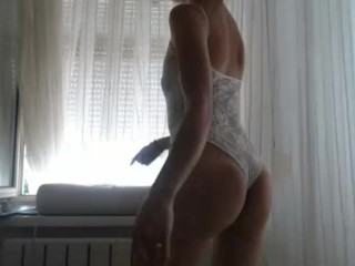 Cam girl hanging out in her window strip dances part 1 2016-06-19