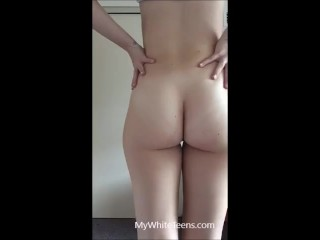 19yr old Tricia stripping at home