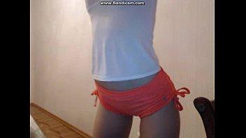 Teen camgirl strip tease
