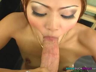Horny Thai prosititute gives super good and sloppy blowjob