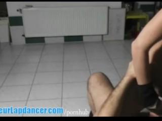 Lapdance show by nasty czech teen