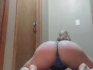 Sexy blonde dancing
